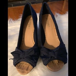 Shoes - Navy blue size 8 wedges